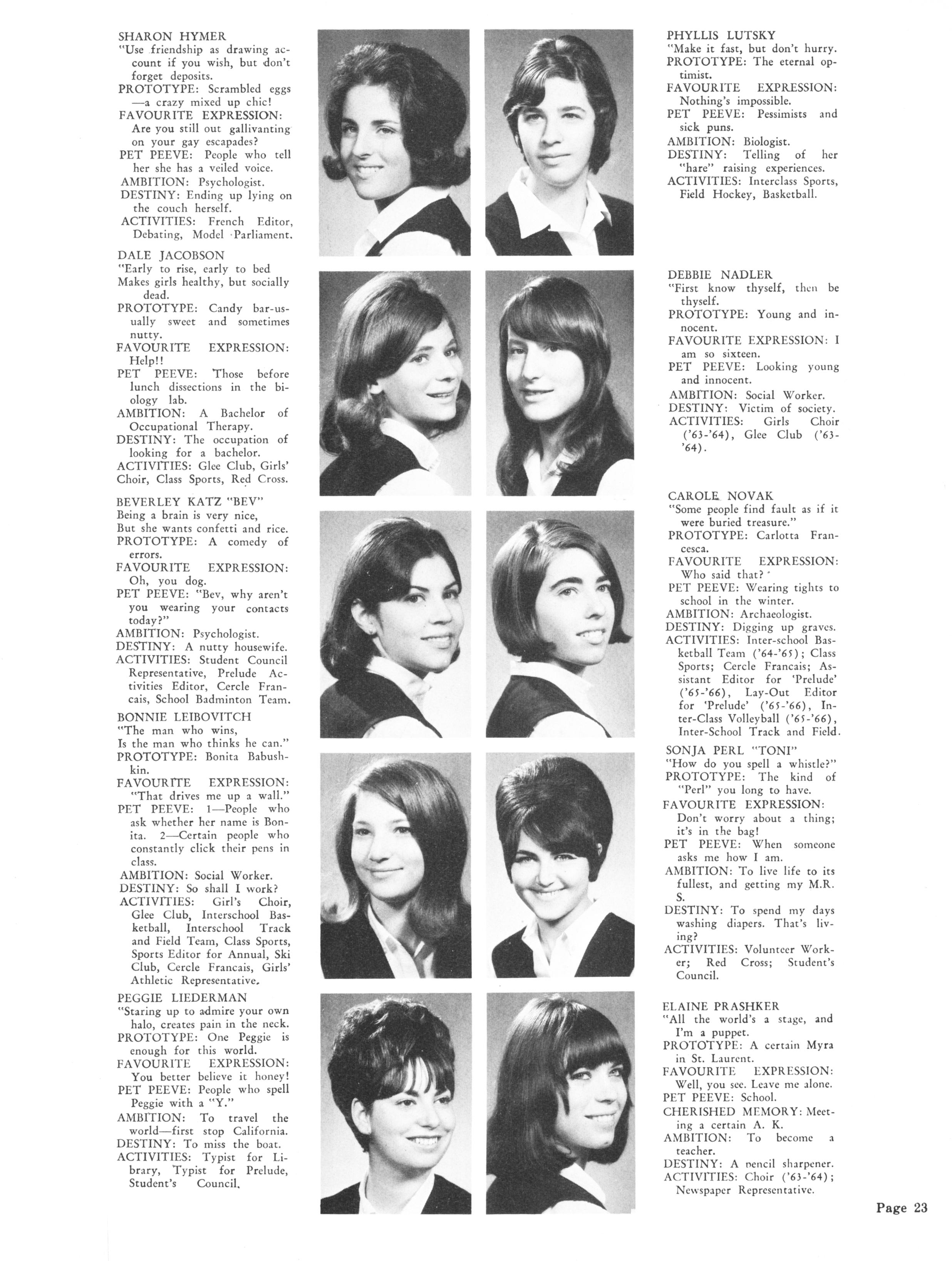 1966 Wagar High School Prelude Yearbooks Page 23