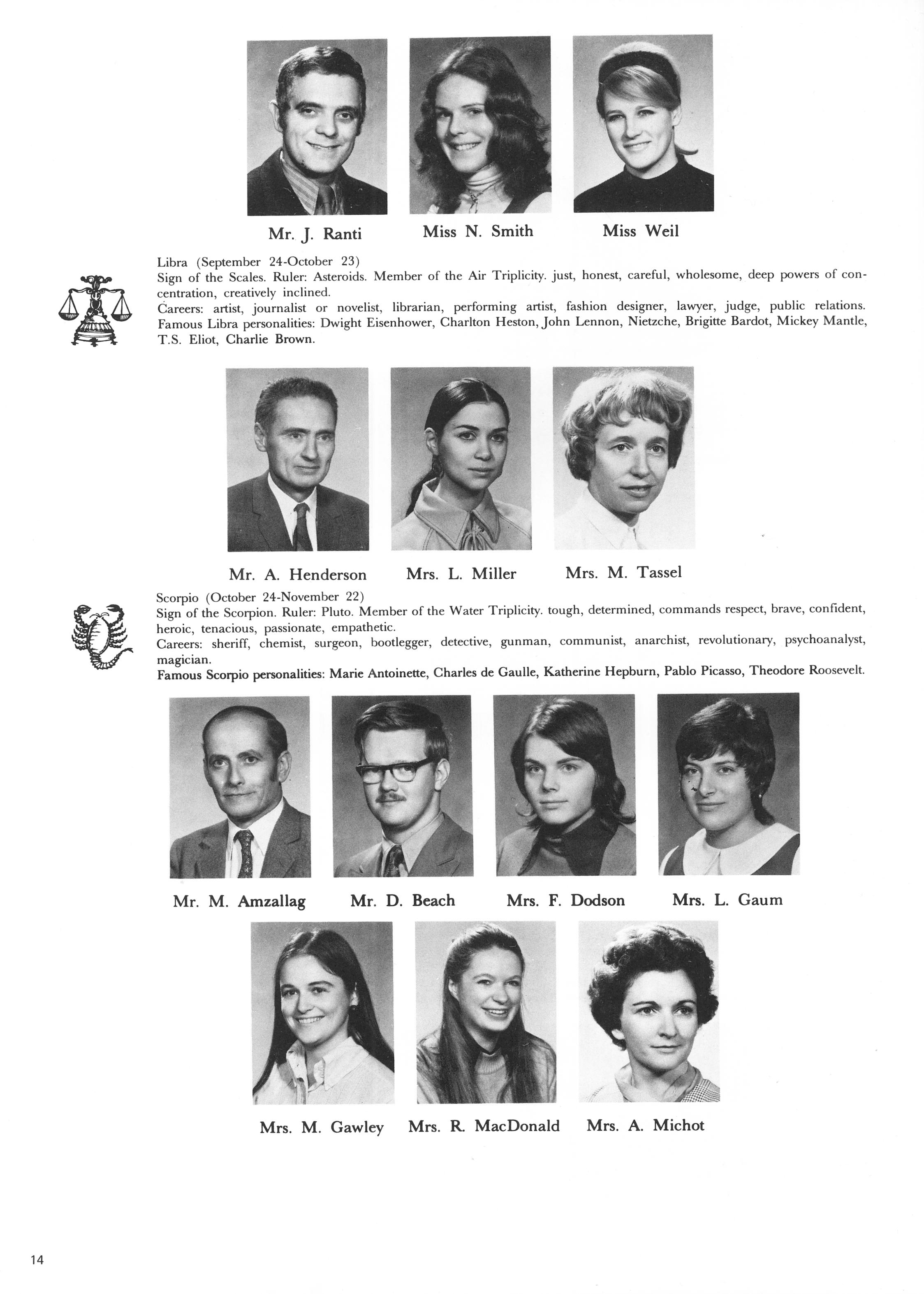 1972 Wagar High School Prelude Yearbooks Page 14
